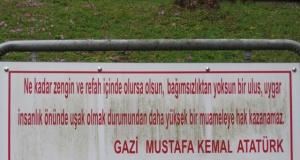 Mustafa Kemal Atatürk diyor ki;
