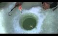 Buzda alabalık avı