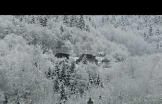 Çamlıhemşin de kar