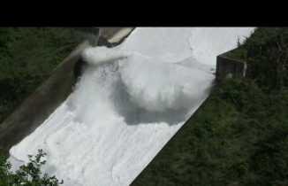 Galyan barajında görsel şölen